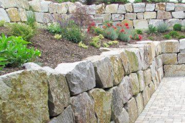 Natursteinmauern, Gabionenwände